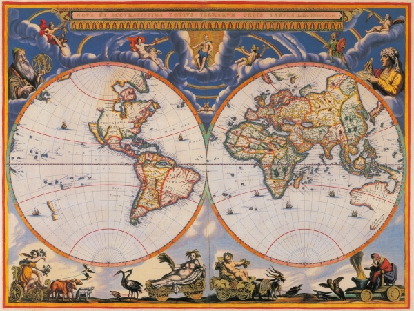 1662 Blaeu World Map.1