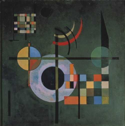 """Gravitation,"" oil on canvas, by Wassily Kandinsky, 1935."